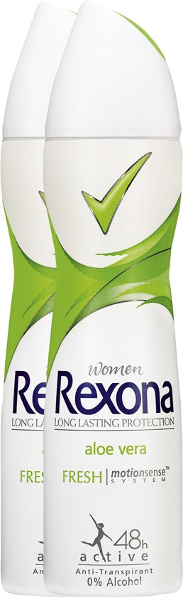 Rexona Women Fresh Aloe Vera - 2 x 150 ml - Deodorant Spray - Voordeelverpakking