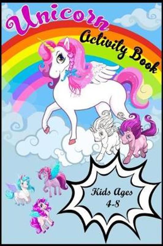 Unicorn Activity Book Kids Ages 4-8