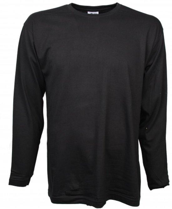Jhk Regular T-shirt Lange Mouw Unisex Maat M Zwart