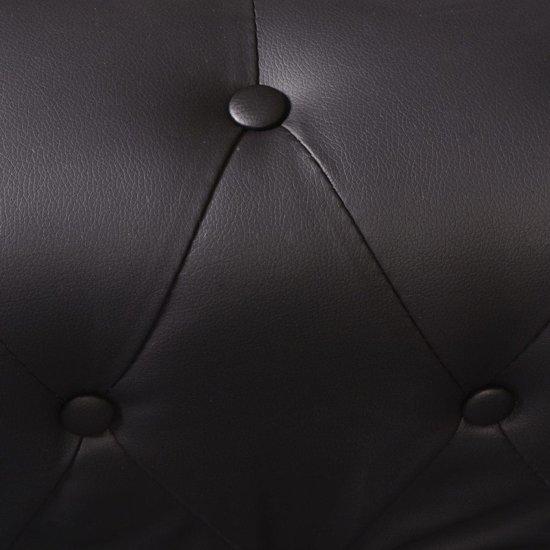 vidaXL Chesterfield 5-zitsbank kunstleer zwart