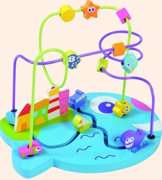 Kralenframe Marine - Boikido - Houten speelgoed vanaf 18 maanden
