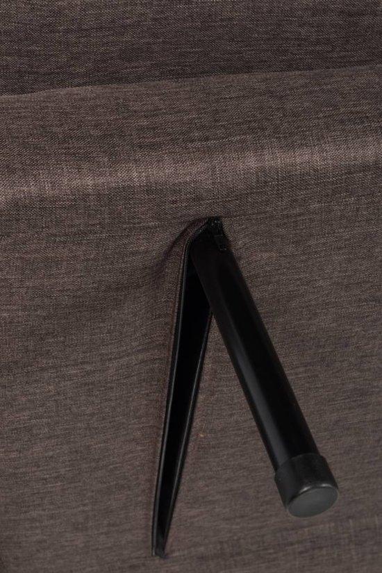 Duverger Slaapzetel - 3-zit - stof - donker bruin