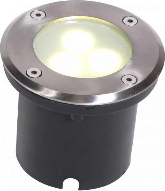bol.com | Grondspot 12 Volt - Grond Armatuur RVS Rond 82mm - 3 LED ...