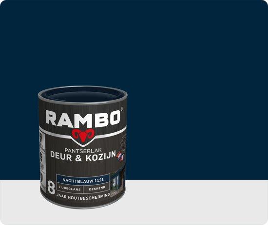 Rambo Deur & Kozijn pantser lak zijdeglans dekkend nacht blauw 1121 750 ml