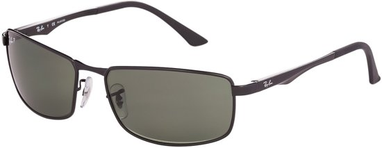 97ccce54a574bd Ray-Ban RB3498 002 9A - zonnebril - Zwart   Groen Klassiek G-