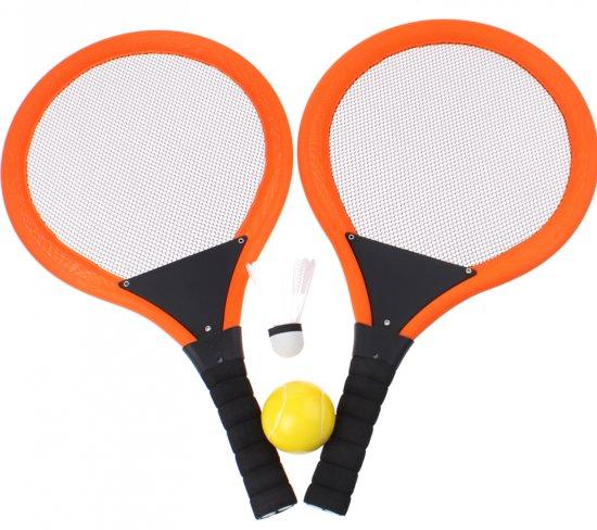 Sports Active Tennis Met Bal En Shuttle 4-delig Oranje