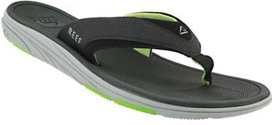 bol | reef slippers unisex modern - black/ green - 35