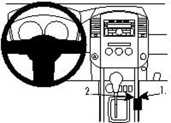 Brodit Console Montagebeugel voor de Nissan Navara 11