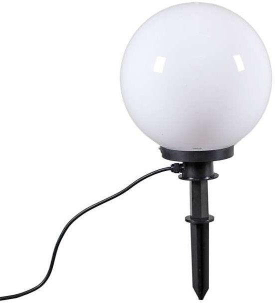 QAZQA Ball 30 Spike - Prikspot buitenlamp - 1 lichts - 300 mm - wit