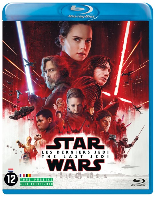 DVD cover van Star Wars Episode 8: The Last Jedi (Blu-ray)
