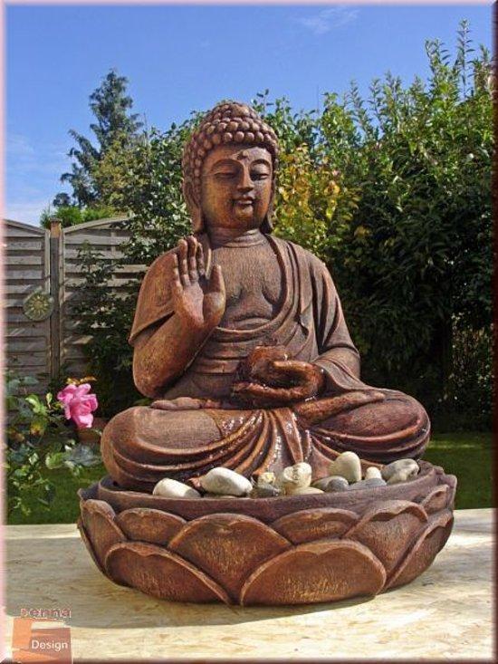 Boeddha Fontein Voor Buiten.Boeddha Buddha Fontein Waterpartij Waterornament Led 50 Cm