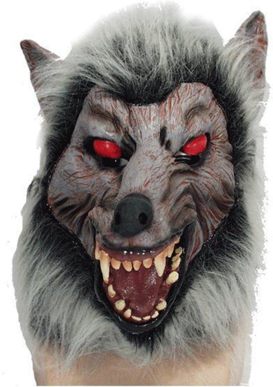 Halloween Weerwolven masker met rode ogen