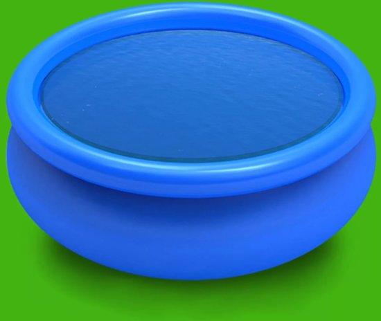 vidaXL Zwembadzeil rond 488 cm PE blauw