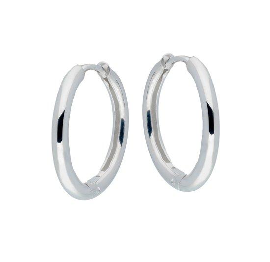 Classics&More - Zilveren oorringen - Dames - Zilver - 20 mm