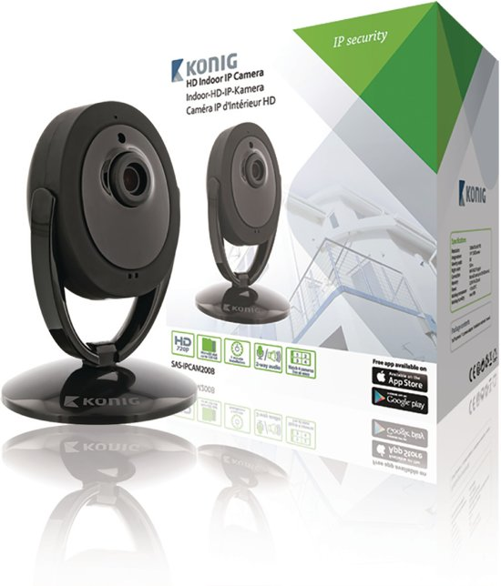 HD IP Camera Indoor 1280x720 Black