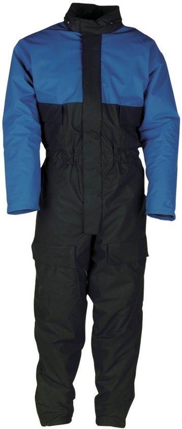 Sioen Lillehammer Winter regenoverall Marine/Korenblauw maat L