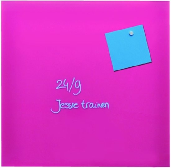 Magnetisch glasbord Roze 35x35 cm