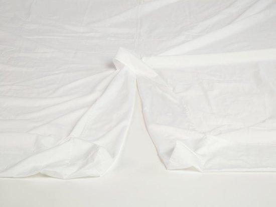 Split Topper Hoeslaken Katoen Satijn.Yumeko Split Topper Hoeslaken Katoen Satijn Wit 160x200x10