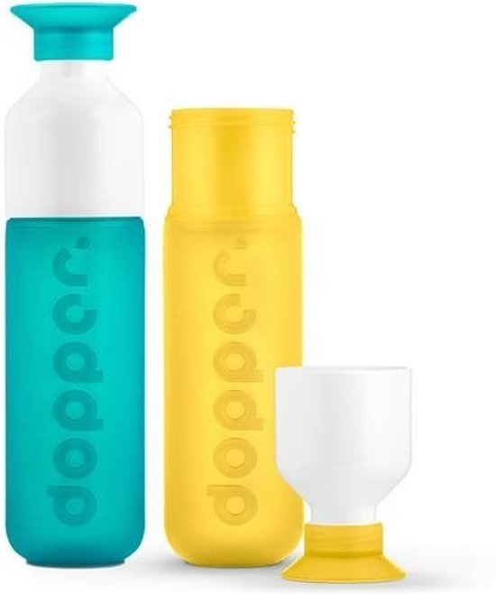 Dopper - duo set 2 kleuren - SeaGreen en Yellow