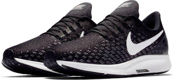 Nike Air Zoom Pegasus 35 Sportschoenen Dames - Black/White-Gunsmoke-Oil Grey - Maat 36