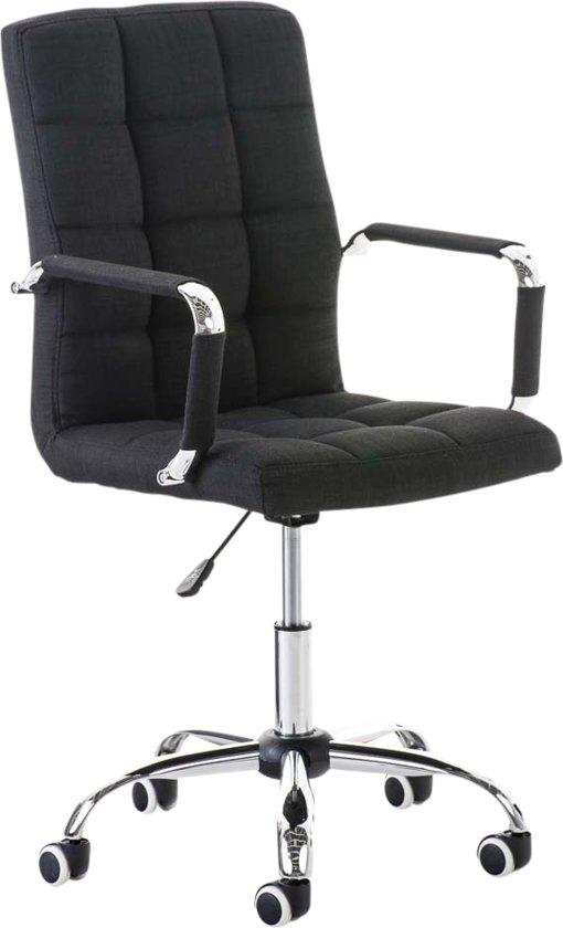 Bureaustoel Stof Zwart.Bol Com Clp Deli V2 Bureaustoel Stof Zwart