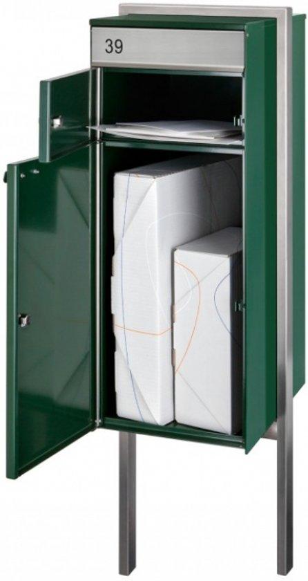 Post- pakketbrievenbus vrijstaand model (Antraciet) met grondplaat