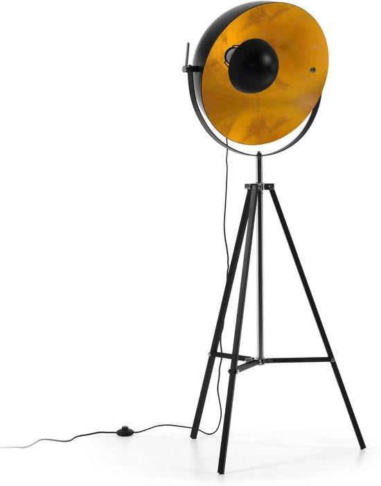 Kave Home Parker Vloerlamp - Studiomodel - Zwart