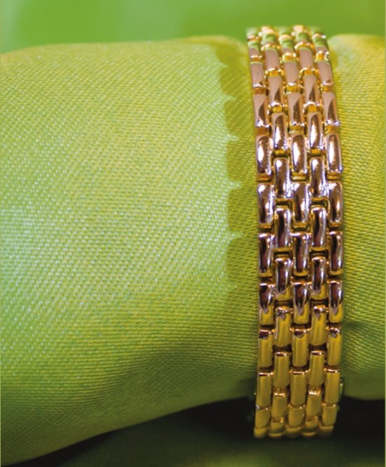 Luigi Vicaro Armband Goudkleurig Lengte 200 mm - Breedte 15 mm