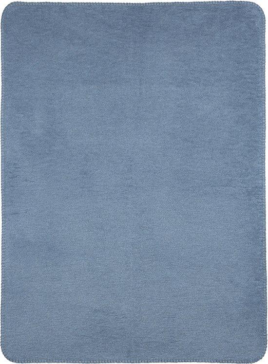 Meyco Double Face Wiegdeken - 75x100 cm - Jeans/Lichtblauw