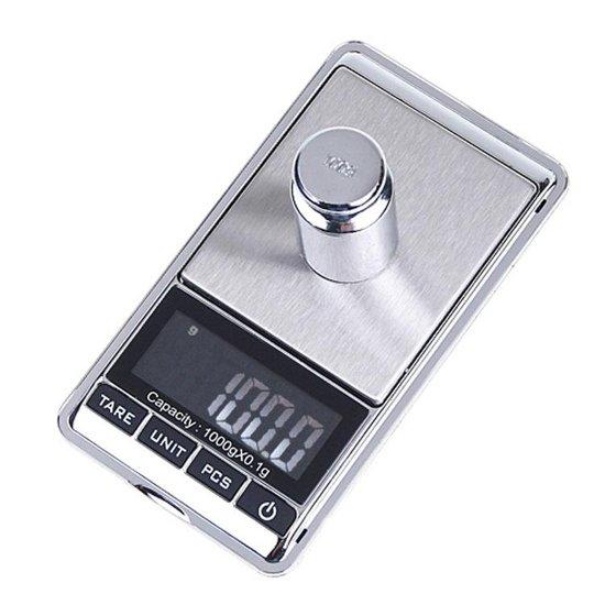 TechQounts - Mini weegschaal kopen - Digitale weegschaal - Precisie weegschaal - Zakweegschaal - Van 0 tot 200 gram - Altijd kunnen wegen