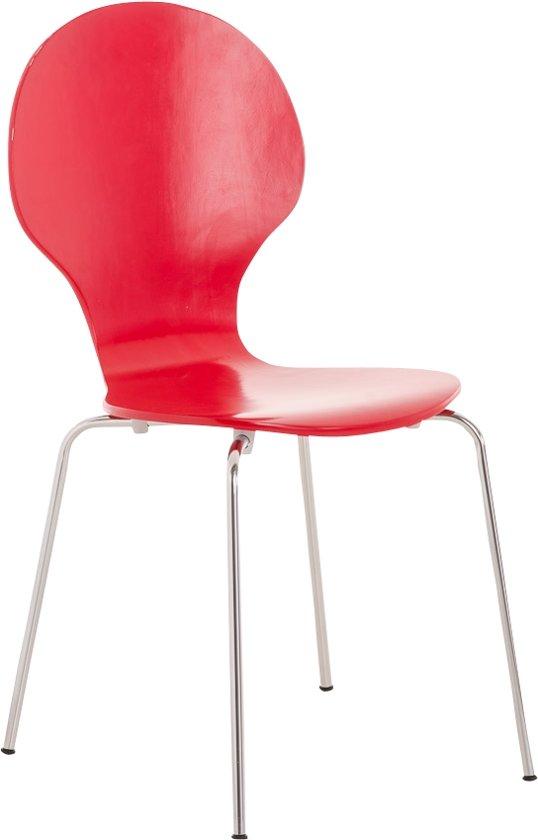 Clp DIEGO - Wachtkamerstoel - stapelbaar - rood