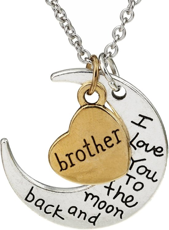 Bolcom Fako Bijoux Ketting Brother I Love You To The Moon