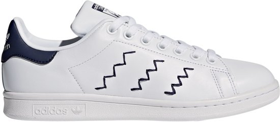 adidas stan smith dames wit blauw