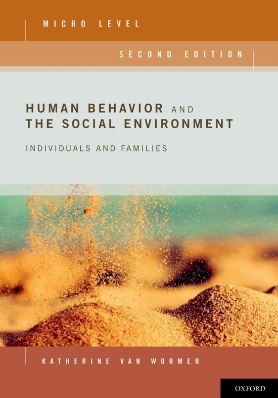 human behavior and enviroment View notes - human behavior and the social environmentdocx from sowk 506 at usc human behavior and the social environment 01/06/2017 lifespan development bio-psycho-social development in each.