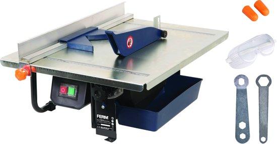 FERM TCM1011 Tegelzaagmachine - 900W - Diamant zaagblad 200mm - Watergekoeld zaagblad - 0-45°