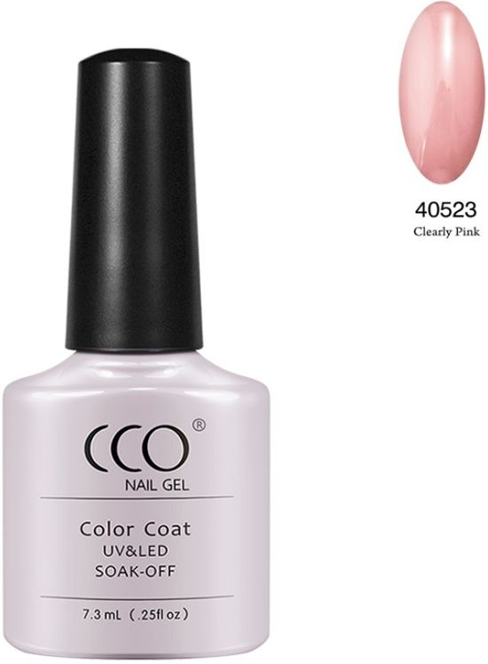 Cco Shellac-Clearly Pink-Transparante Roze- Gel Nagellak