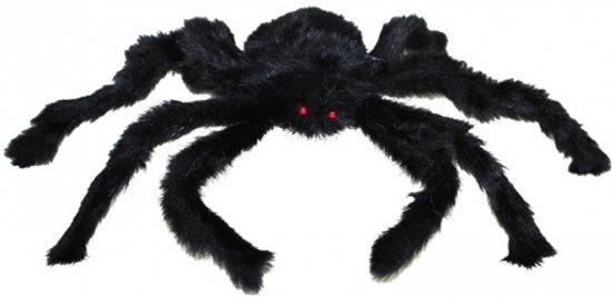 Halloween Nep spin zwart 28 cm