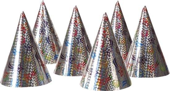 48 stuks: Set 6 Holografische hoedjes