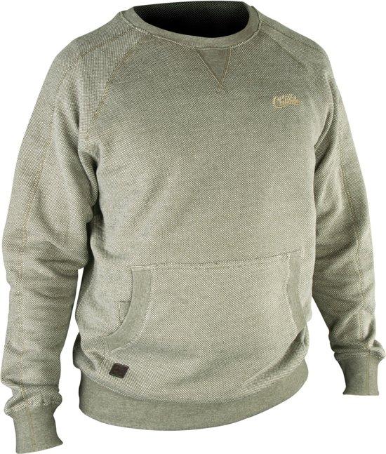 Fox Chunk Crew Sweatshirt Olive   Maat XL