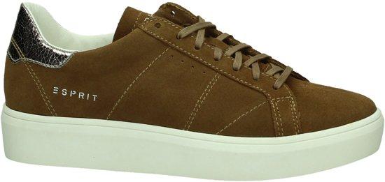 Esprit - 077ek1w018 - Sneaker laag gekleed - Dames - Maat 40 - Cognac - 255 -Bark