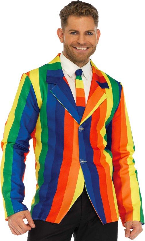 Rainbow Regenboog Pride Colbert en Stropdas | Leg Avenue | maat L