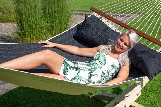 Hangmat met Standaard Familie 'Wood & Vegas' Black