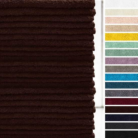 Lumaland - Handdoek - Washandjes set van 24 - 100% katoen - 30x30cm - Bruin