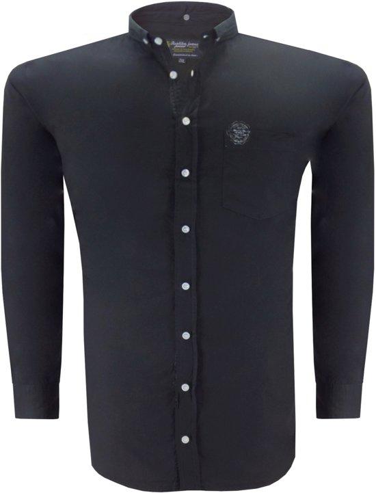 Replika T-shirt Overhemd -  zwart -  3XL