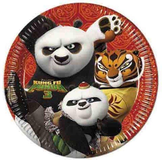 Kung Fu Panda Borden 23cm 8 stuks