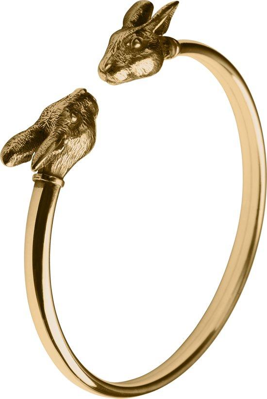 Zodiac Armband Konijn: Goud M
