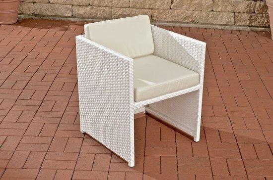 Stoel Rotan Wit : Bol clp poly rotan wicker stoel salon tahiti aluminium