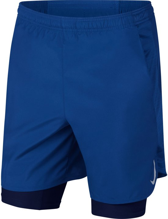 Nike Challenger Short 7In 2In1 Sportbroek Heren - Indigo Force/Indigo Force/Blue Void/(Reflective Silv) - Maat S