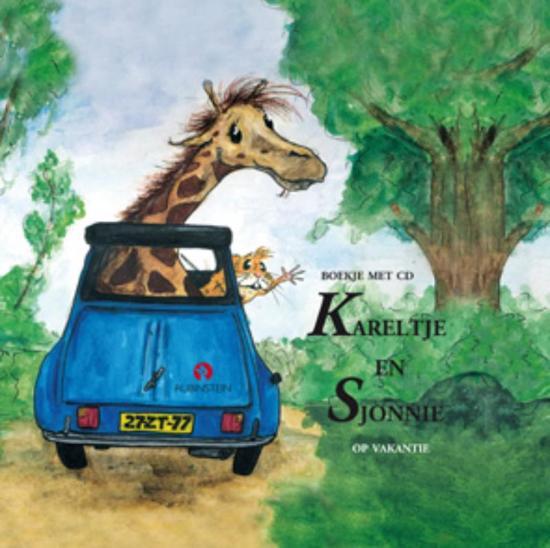 Cover van het boek 'Kareltje en Sjonnie op vakantie + CD' van J. Schuring