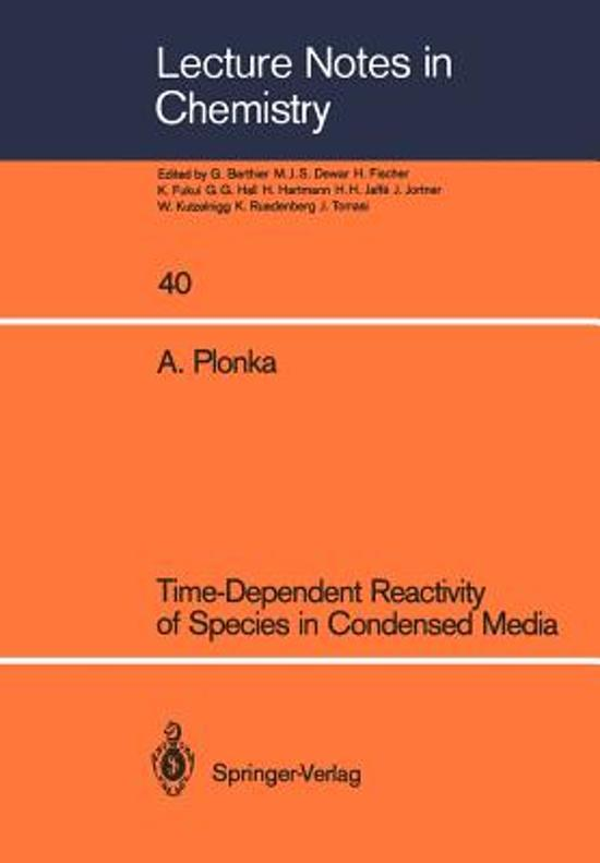 Time-Dependent Reactivity of Species in Condensed Media